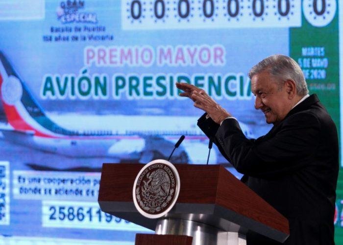 Así será el boleto para la rifa del avión presidencial