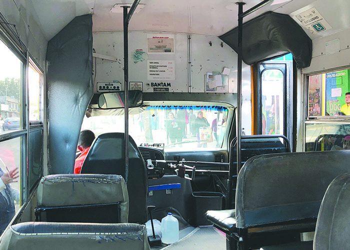 El 20% de las unidades del transporte público no cumple con rutas