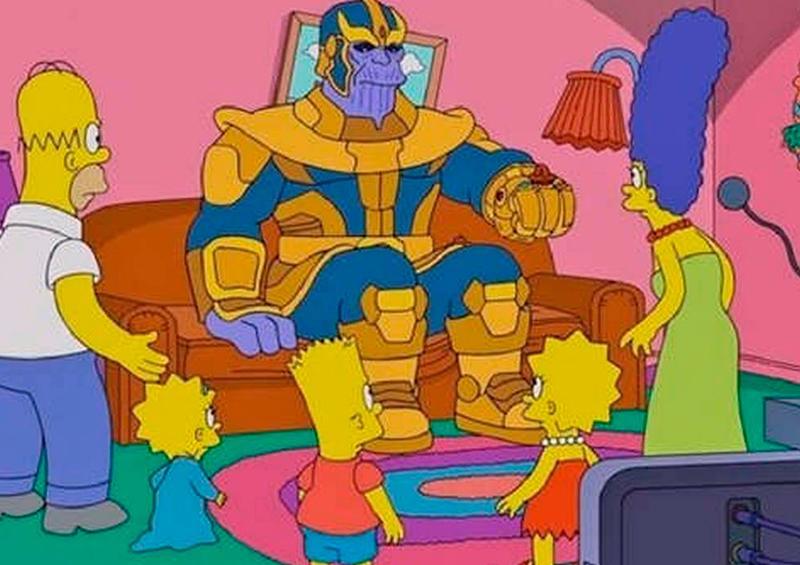 "Presentan en Los Simpson parodia de ""Avengers Infinity War"""