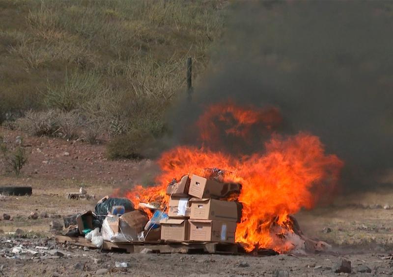 Incinera la FGR 635 kilos de narcóticos en BCS