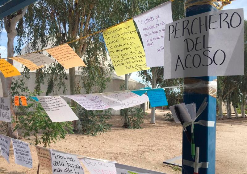 Exhiben alumnas del Tec La Paz casos de acoso sexual