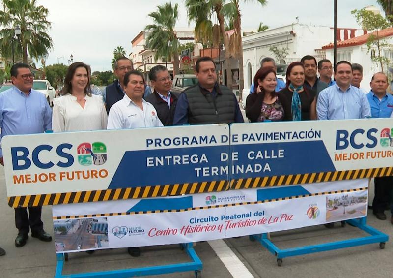 Inauguran Circuito Peatonal en Centro Histórico de La Paz