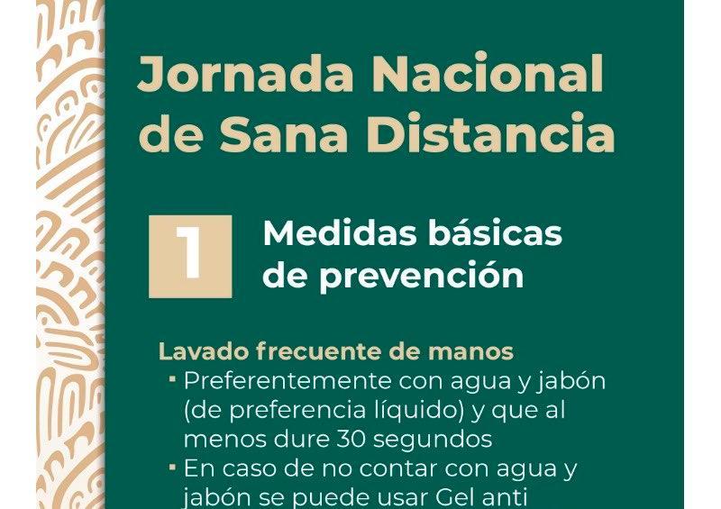 Por COVID-19 inicia jornada Nacional de Sana Distancia