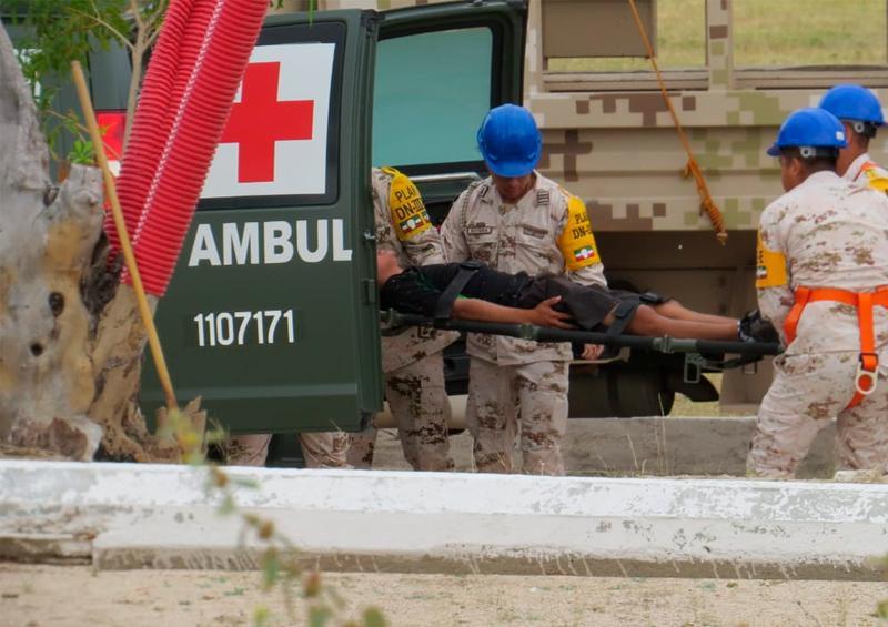 Demostración del Plan DN-lll en caso de incendio forestal, 3er Batallón de Ingenieros de Combate