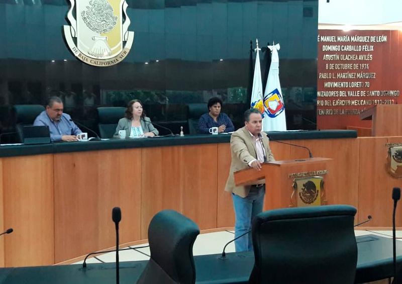 Sin diputados de oposición, sesiona Congreso de BCS