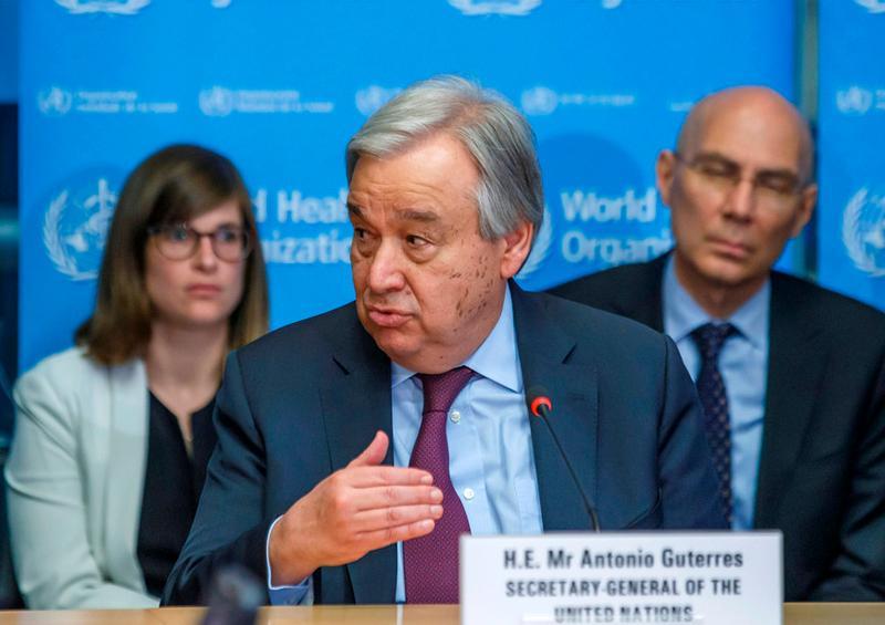 ONU pide poner fin a las guerras para enfrentar el coronavirus