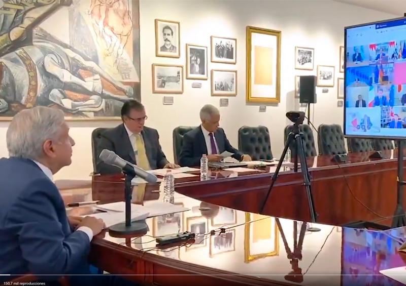 """Así fue el primer """"encuentro"""" de AMLO con líderes del G-20"""