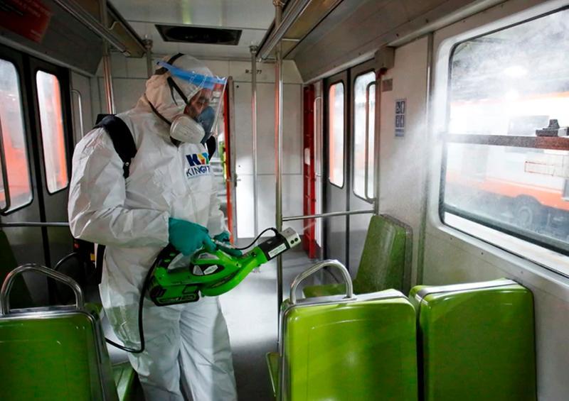 Refuerzan medidas de sanitización en transporte público en Edoméx