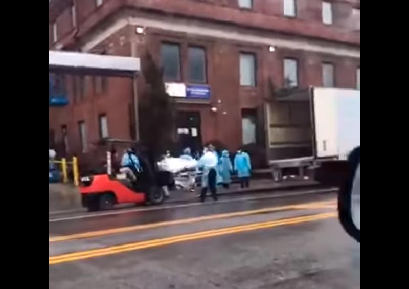 Cargan decenas de muertos por Covid-19 en camiones en NY
