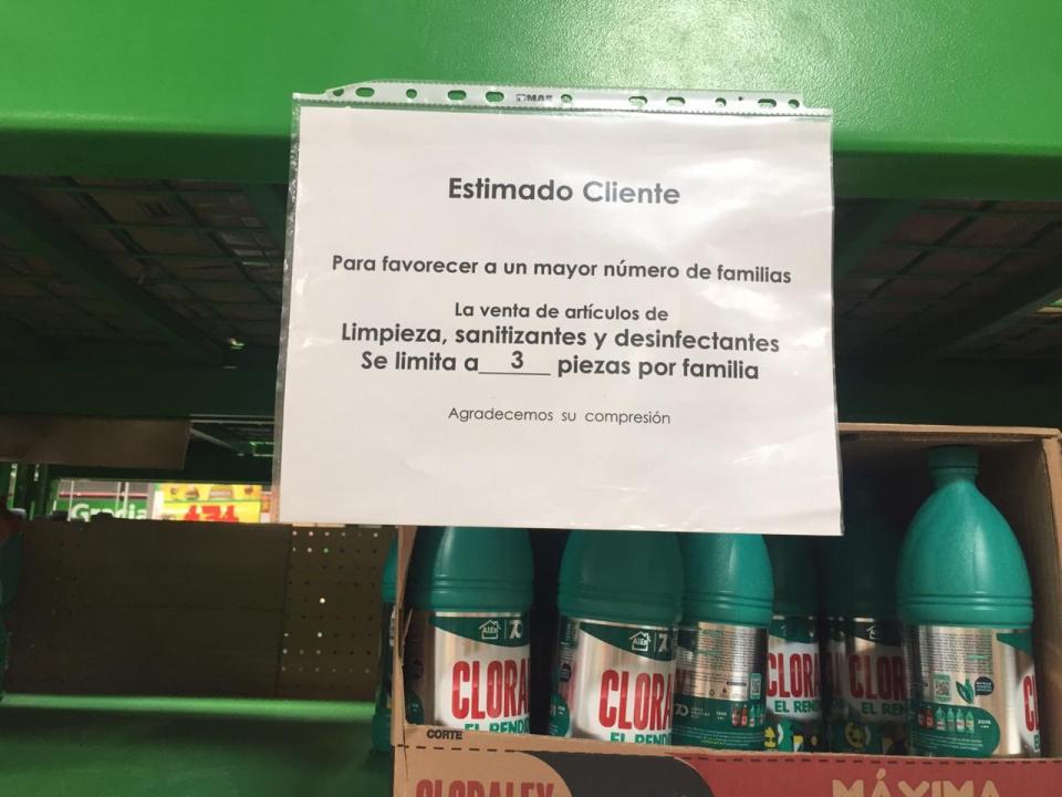 Limitan tiendas comerciales compra de productos por coronavirus