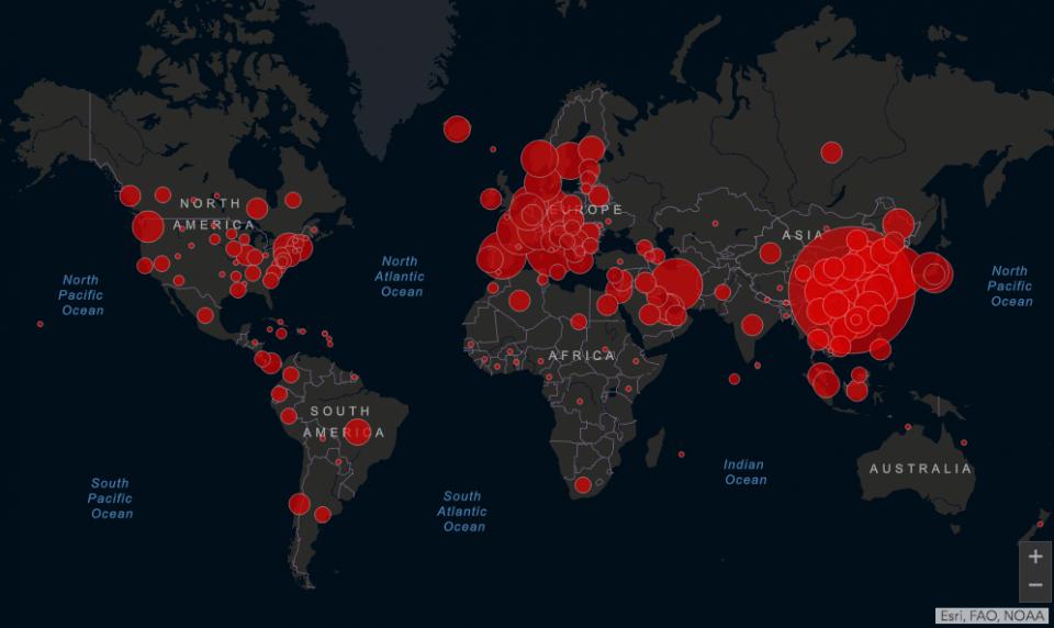 Suman más de 7 mil muertos por Covid-19 en el mundo