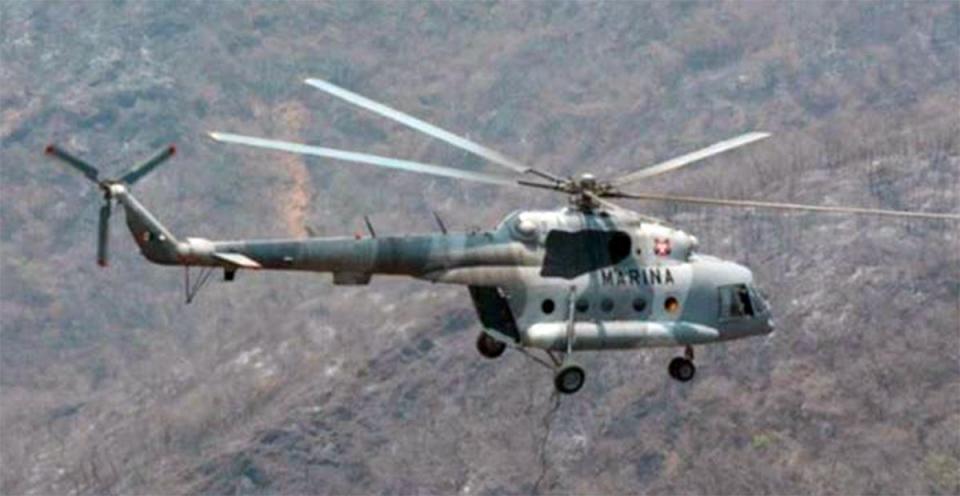 Cae helicóptero de la SEMAR en Veracruz; informan de al menos 7 muertos