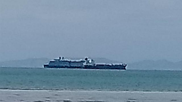 Crucero Westerdam se encuentra anclado en Bahía de La Paz