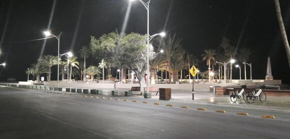 Cierran malecón de La Paz durante cuarentena