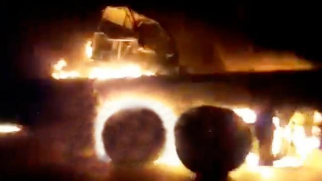convoy atacado en Irán