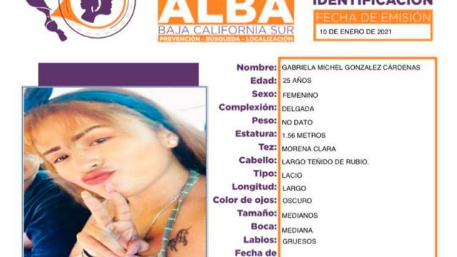 Desaparece mujer en La Paz y activa PGJE Protocolo Alba