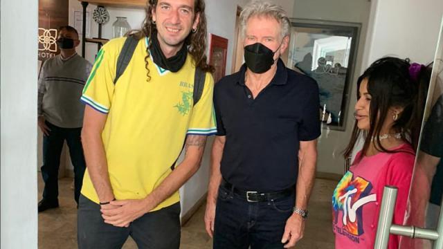 Harrison Ford llegó a La Paz