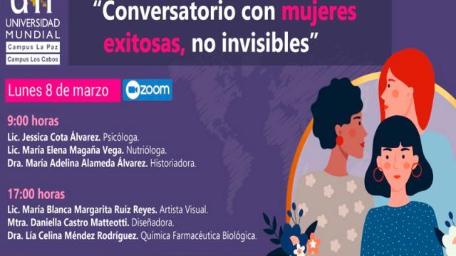 """UM invita al """"Conversatorio con mujeres exitosas, no invisibles"""""""