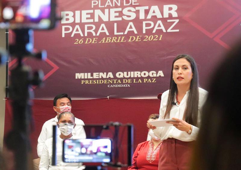 Presenta Milena Quiroga Plan de Bienestar para La Paz