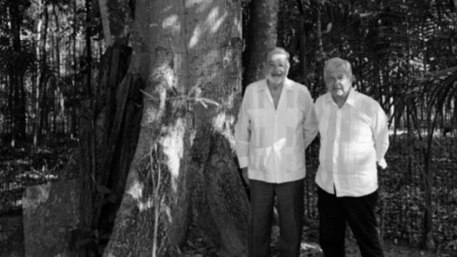 AMLO y Carlos Slim