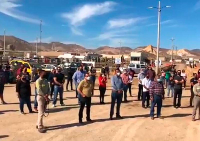 """Con manifestación pacífica piden a AMLO atender tema """"El Boleo"""""""