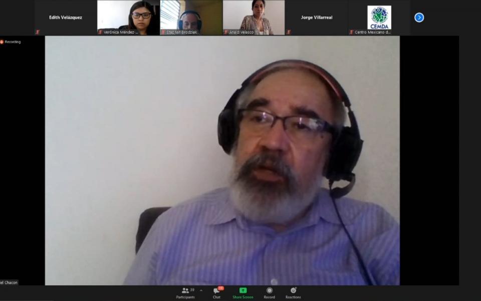 Maestro Daniel Chacón, de la Iniciativa Climática de México
