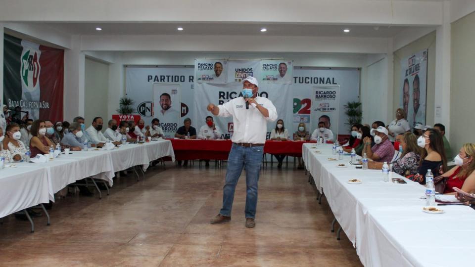 Refrendan apoyo PRI- BCS y de la Madrid a Ricardo Barroso