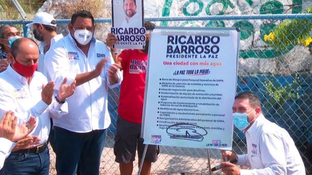 Se compromete Ricardo Barroso a resolver tema del agua