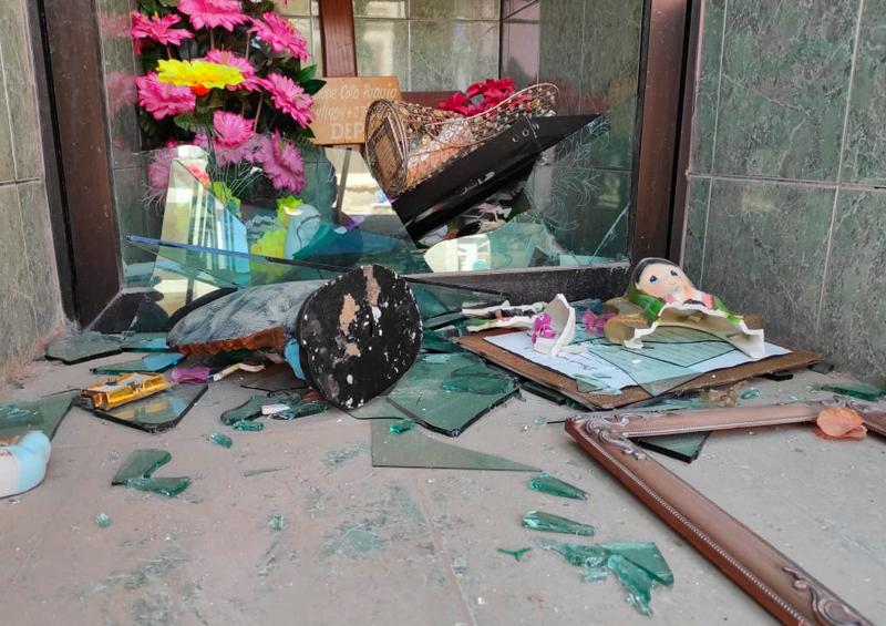 Vuelven a vandalizar el panteón Jardines del Recuerdo