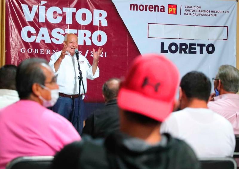 Morena impulsará educación a BCS: Víctor Castro