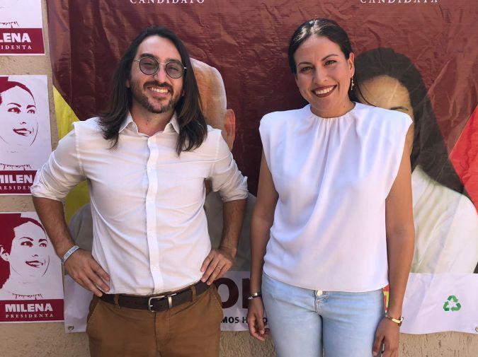 Candidata a la alcaldía de La Paz por Morena-PT