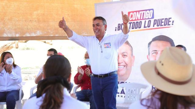 Candidato a la gubernatura por la alianza Unidos Contigo