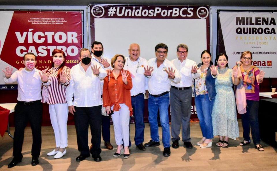 Respaldan Senadores de Morena a Oscar Leggs