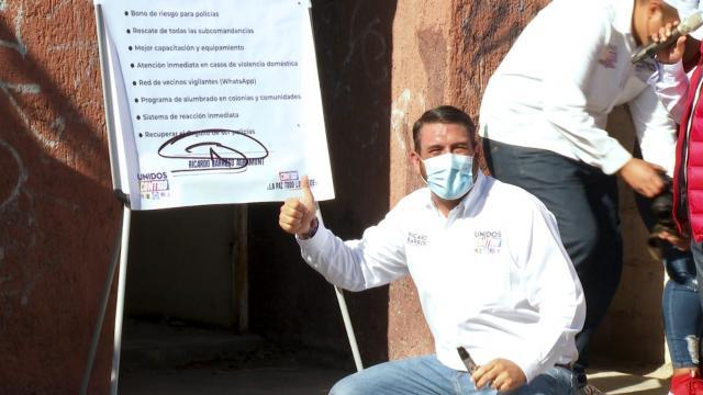 Candidato por la Alianza Unidos Contigo por la alcaldía de La Paz