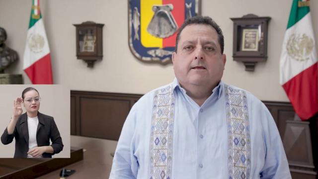 Gobernador de BCS reconociendo resultados a favor de Víctor Castro
