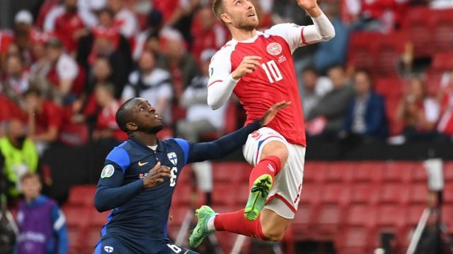 Dinamarca vs Finlandia en la Euro 2020